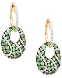 Effy - 14k Yellow Gold, Tsavorite & Diamond Drop Earrings - Lyst