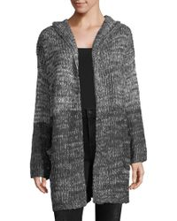 PPLA - Hooded Open Front Cardigan - Lyst