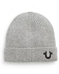 True Religion - Logo Knit Watchcap - Lyst