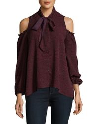 French Connection - Callie Crepe Cold Shoulder Top - Lyst