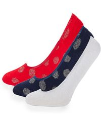 Juicy Couture - Three-pack Classic No Show Socks - Lyst