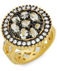 Freida Rothman - Crystal Round Pebble Cocktail Ring - Lyst