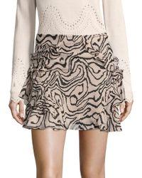Derek Lam - Ruffled Silk Mini Skirt - Lyst