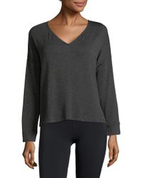Eberjey - Long Sleeve V-neck Sweater - Lyst