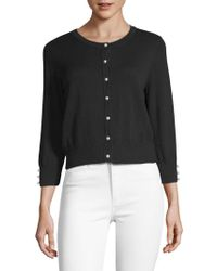 Karl Lagerfeld - Lace Button-front Cardigan - Lyst