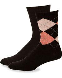 Hue - Two-pair Argyle Boot Sock Set - Lyst