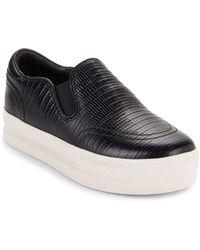 Ash - Jungle Textured Leather Platform Shoes - Lyst