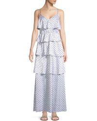 Avec Les Filles - Paisley-print Tiered Maxi Dress - Lyst