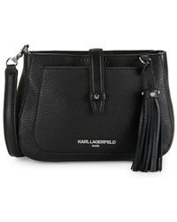 Karl Lagerfeld - Toby Leather Crossbody Bag - Lyst