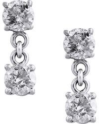 259a0f119 Effy - Pave Classica Diamond And 14k White Gold Drop Earrings, 0.98 Tcw -  Lyst