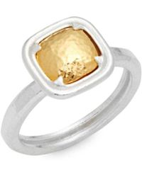 Gurhan - Square Sterling Silver Ring - Lyst