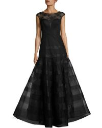 Basix Black Label - Cap Sleeve Gown - Lyst