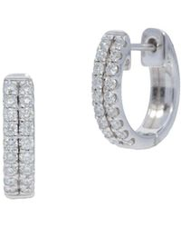 Nephora - Two Row Pave Huggie Earrings - Lyst