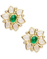 Temple St. Clair - Cl Color 18k Yellow Gold Ottoman Stud Earrings - Lyst