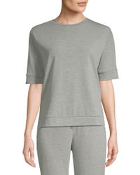 Saks Fifth Avenue - Short Sleeve Fleece T-shirt - Lyst
