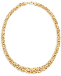 Saks Fifth Avenue - 14k Yellow Gold Collar Necklace - Lyst