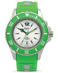 Kyboe - Neon Green Silicone & Stainless Steel Strap Watch/40mm - Lyst