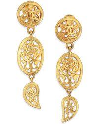 House of Lavande - Vintage Chanel Clip-on Drop Earrings - Lyst