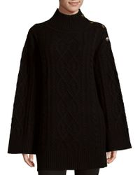 Saks Fifth Avenue Black - Cable-knit Jumper - Lyst