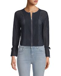 Ellen Tracy - Textured Short Jacket - Lyst