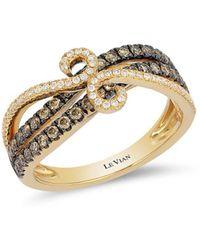 Le Vian - Chocolatier® Chocolate & Vanilla Diamond® Swirl Band Ring - Lyst