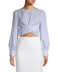 English Factory - Striped Cropped Top - Lyst