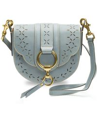 Frye - Ilana Small Perforated Leather Saddle Bag - Lyst