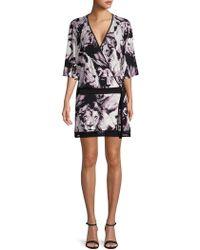 Roberto Cavalli - Animal-print Belted Wrap Dress - Lyst