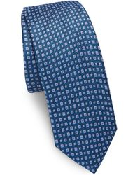 0b45b335b361 Saks Fifth Avenue - Two-tone Square Dot Silk Narrow Tie - Lyst