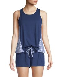 Jane And Bleecker - 2-piece Geometric Pyjama Set - Lyst