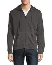 Zadig & Voltaire - Moss Overdyed Cotton Hoodie - Lyst