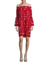 Max Studio - Hollyhock Flower Printed Dress - Lyst