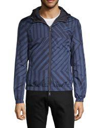 Emporio Armani - Reversible Hooded Zip-up Jacket - Lyst