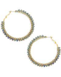 Panacea - Purple Crystal Hoop Earrings - Lyst