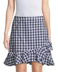 Draper James - Gingham Ruffle Mini Skirt - Lyst