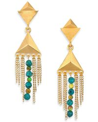 Stephanie Kantis - Dimension Green Turquoise Howlite & Blue Turquoise Howlite Drop Earrings - Lyst