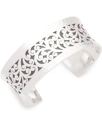 Lois Hill - Small Cutout Sterling Silver Bangle Bracelet - Lyst
