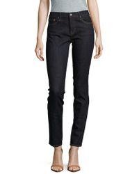 Earnest Sewn - Natasha Solid Mid-rise Jeans - Lyst