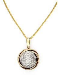 Effy   Doro 14kt. White And Yellow Gold Diamond Pendant Necklace   Lyst