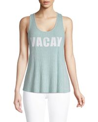 PPLA - Vacay Graphic Tank Top - Lyst