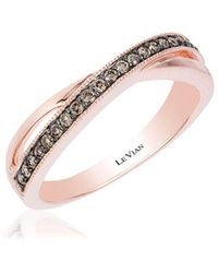 Le Vian - 14k Strawberry Gold Chocolate Diamond Chocolatier Ring - Lyst