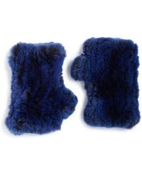 Surell - Rabbit Fur Fingerless Gloves - Lyst