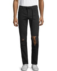 Off-White c/o Virgil Abloh - Slim-fit Distressed Jeans - Lyst