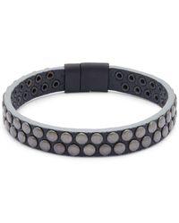 Tateossian - Leather Wristband Bracelet - Lyst