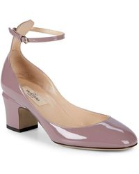 Valentino - Tango Leather Ankle-strap Pumps - Lyst
