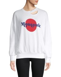 Project Social T - Montauk Cut-out Sweater - Lyst