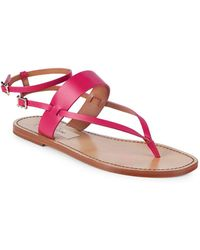 Valentino - Classic Leather Ankle-strap Sandals - Lyst
