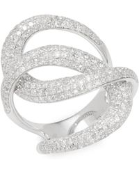 Effy - Twisted 14k White Gold & 1.73 Tcw Diamond Ring - Lyst