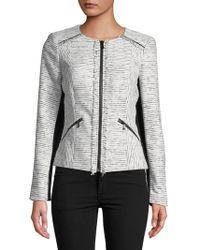 Karl Lagerfeld - Fringed Tweed Jacket - Lyst
