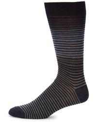 Saks Fifth Avenue - Ombre Striped Mid-calf Socks - Lyst